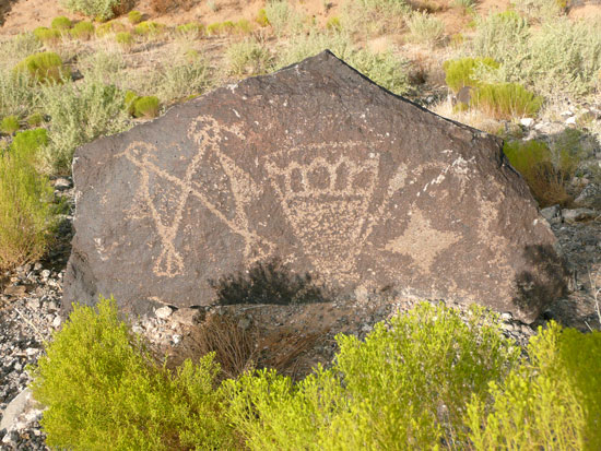 Petroglyphs found near the Mesa Point Trailhead
